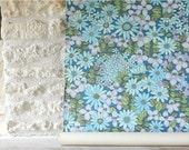 Retro flower wall paper - Papier peint retro fleurs