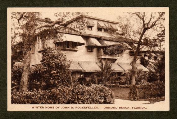 Rockefeller Florida residence - 1920s postcard
