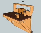 Multi-functional horizontal routing machine as Featured on Blue Collar Woodworking Episode 17- Downloadable Plans