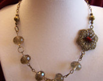 Filigree Crystal Beaded Necklace