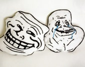 Troll Face & Forever Alone Plushie