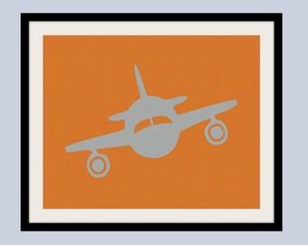 Custom Children's Airplane Print 8 x 10. nursery art personalized plane art