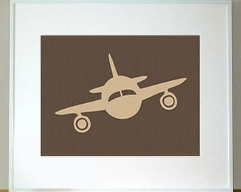 Personalized Children's Airplane Print 5 x 7 transportation nursery art
