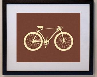 Vintage Fixie Bike Print 8 x 10, bicycle print