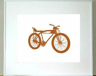 Rat Rod Bike Print 8 x 10, bicycle print