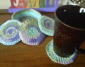 Crochet Coaster Set with Bowl