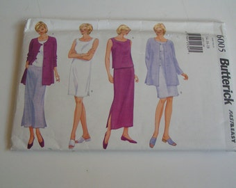 Butterick Pattern 6005 Fast Easy Miss Petite Jacket Top Dress Skirt