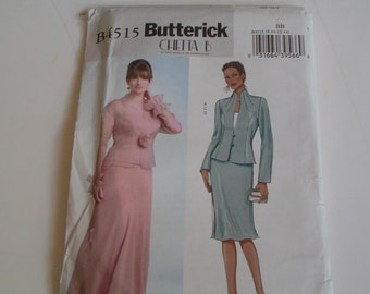 Butterick Pattern B4515 Chetta B Jacket Top Skirt
