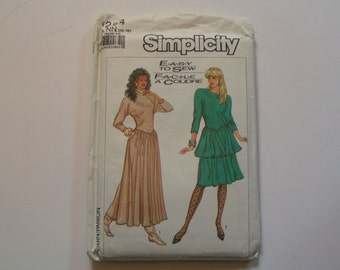 Vintage Simplicity Pattern 8284 Easy to Sew Dress