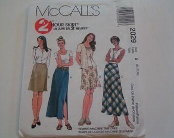 McCalls Pattern 2029 2 Hour Skirt
