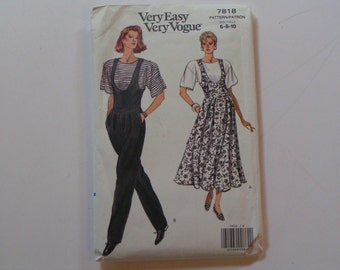 Vintage Very Easy Very Vogue 7818 Misses Jumper Jumpsuit Top