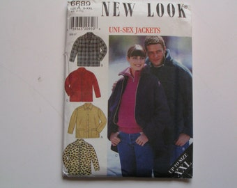 New Look Pattern 6689 Uni Sew Jacket S to XXL
