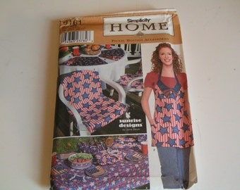 Vintage Simplicity Home Pattern 9161 Picnic Hostess Accessories