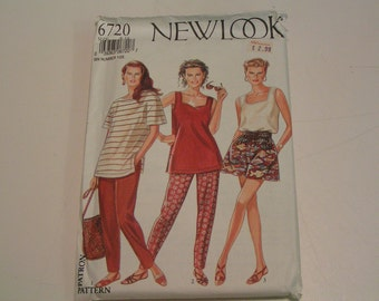 New Look Pattern 6720 Tops Shorts Trousers Womens