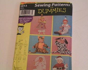 Simplicity Pattern 9813 Sewing of Dummies Toodlers Costumes