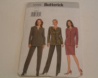 Butterick Pattern  3599 Misses Petite Jacket Skirt Pants