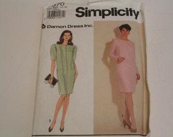 Simplicity Pattern 7370 Damon Dress Inc Misses Petite Dress