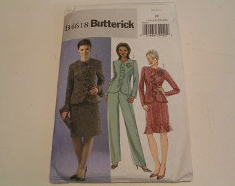 Butterick Pattern B4618 Misses Jacket Skirt Pants