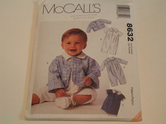 McCalls Pattern 8632 Infants Jacket Romper in two Lengths