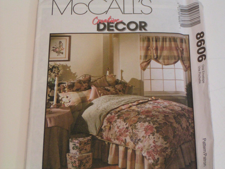 mccalls pattern 8606 decor bedroom essentials