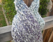 Handmade Knit Soft Rainbow Scarf