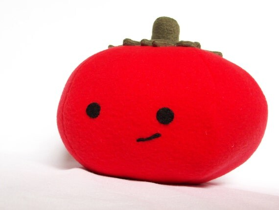 BIG Mato the Lovable Fleece Tomato For Children or Kids at Heart.  GREAT Gift!