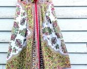 Vintage Vibrant Hippie Gypsy Tribal Print Cotton Skirt