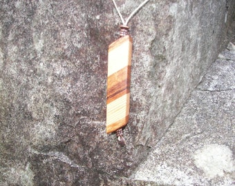 TigerWood Fir Pendant Necklace On Sale