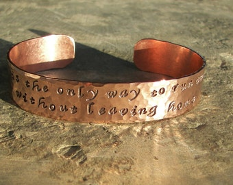 Personalized Hand Stamped Copper Cuff Bracelet