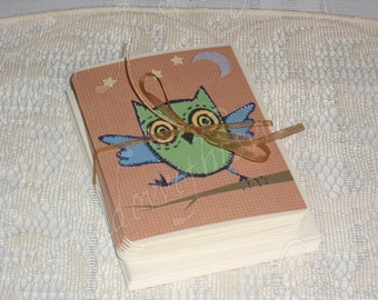 Funky Little Dancing Owl Notecards with Matching Printed Envelopes