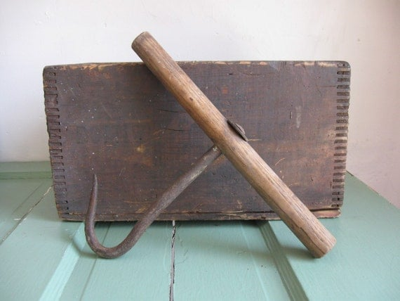 RESERVED for Gary- Antique Hay Bale Hook Primitive Rustic
