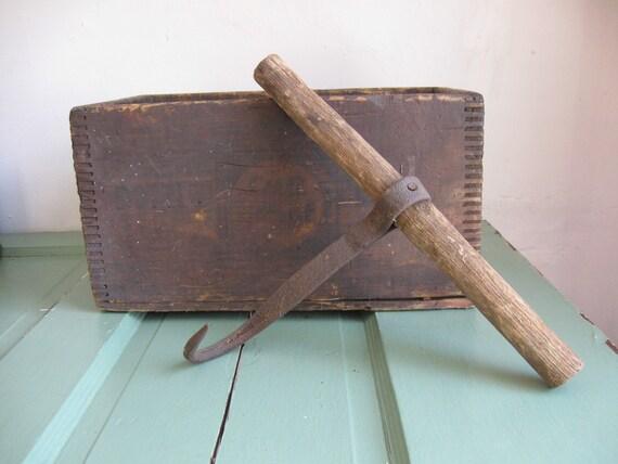 Antique Primitive Hay Bay Hook Rustic