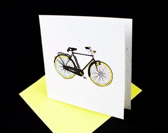 Man's Bicycle / Eco-Friendly Plantable Seeded Card