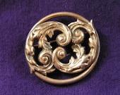Sterling Silver Beau Fancy Scroll Design Pin/Brooch