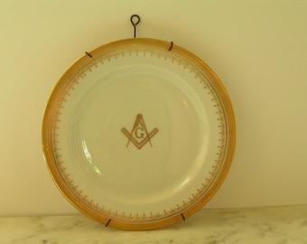 Masonic Plate O.P.Co. Syracuse China