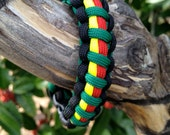 Rastafarian (Special Bob Marley Ed., 2nd series 2/4) Survival Bracelet made of 550 Type III Paracord