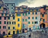 Woman in the Window as Storm Approaches - Riomaggiore, Cinque Terre, Italy - Fine Art Photograph