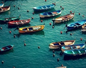 Any Color You Like - Vernazza, Cinque Terre, Italy - Fine Art Photograph - 8x8 Square Photo