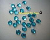 8mm AQUAMARINE (Ice Blue) Rhinestones 25pc - High quality