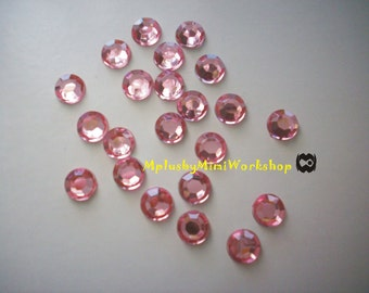3mm Rose (Hot Pink) Rhinestones 1000pcs - High quality