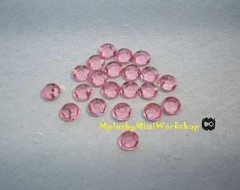 3mm Pink Rhinestones 1000pc - High quality