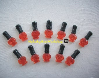 Flatback resin nail polish bottles 3pc