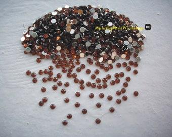 2mm Brown Rhinestones 1000pc - High quality