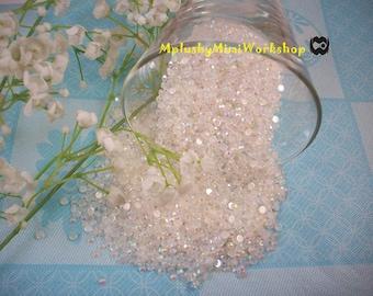 3mm White Jelly Rhinestones 400pc - High quality