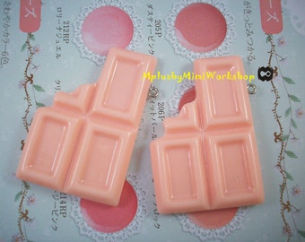 Flatback Pink chocolate 1pc 52mmX34mm