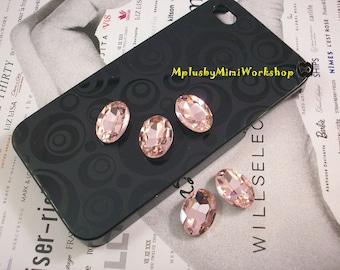 18mm Oval Shape Pink Rhinestone 1pc - High quality