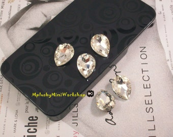Water Droplets Clear Rhinestone 1pc - High quality 18mmx13mm