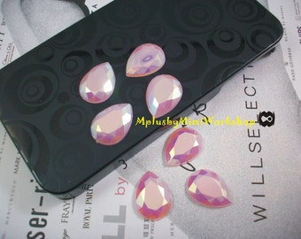 Water Droplets Pink Jelly Flatback Rhinestone 25pc - High quality 18mmx13mm