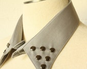 UPCYCLED Detachable Collar - Grey with Gunmetal Studs