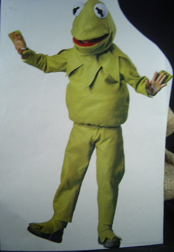 Kids Costume and Mask Pattern Kermit the Frog Vintage Halloween - Pattern Only